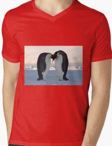 Emperor Penguin Courtship Mens V-Neck T-Shirt