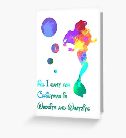 Christmas Whozits and Whatzits Inspired Silhouette Greeting Card