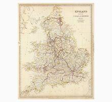 Vintage Map of England (1837)  Unisex T-Shirt