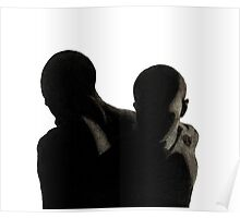 Charcoal Male Silhouette  Poster