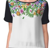 Annalisa Flowers Chiffon Top