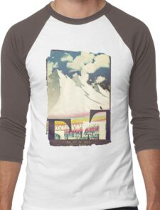 valley of tees old poster Men's Baseball ¾ T-Shirt