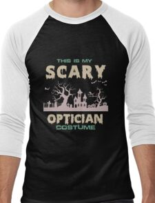 Optician - This Is My Scary Optician Costume Men's Baseball ¾ T-Shirt