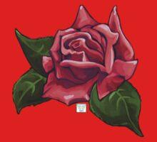 Painted Red Rose Kids Tee
