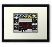 Manomtr Garage Framed Print