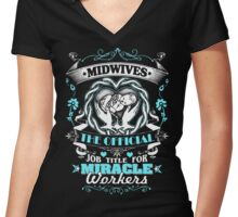 Midwife Hot Collection 2016 Women's Fitted V-Neck T-Shirt