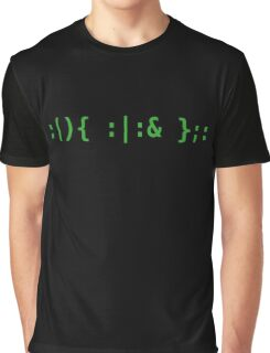 Bash Fork Bomb - Green Text for Unix/Linux Hackers Graphic T-Shirt
