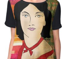 EMILY BRONTE, ENGLISH AUTHOR OF WUTHERING HEIGHTS Chiffon Top