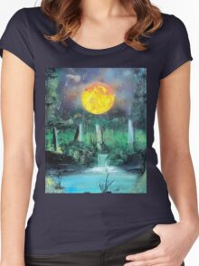 Spray Paint Art- Scorching Sun Women's Fitted Scoop T-Shirt