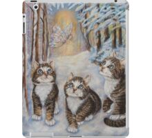 Fairy  Art - Kittens and the Snow Fairy iPad Case/Skin