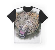 Leopard showing its teeth Graphic T-Shirt