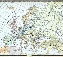 Vintage Map of Europe (1899) by BravuraMedia