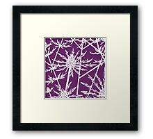 Sea hollies on a purple background Framed Print