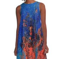 Cadmium Red Love in Flames  A-Line Dress