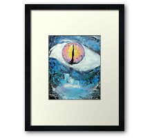 Spray Paint Art- Eye See You Framed Print