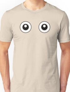 Scared Cartoon Eyes in the Dark Unisex T-Shirt