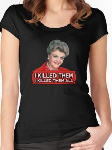 Angela Lansbury (Jessica Fletcher) Murder she wrote confession. I killed them all. Women's Fitted Scoop T-Shirt