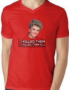 Angela Lansbury (Jessica Fletcher) Murder she wrote confession. I killed them all. Mens V-Neck T-Shirt
