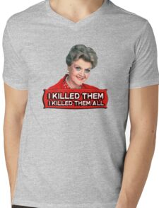 Angela Lansbury (Jessica Fletcher) Murder she wrote confession. I killed them all. Mens V-Neck T-Shirt