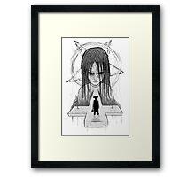 exorcist - bw version Framed Print