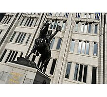 Robert the Bruce - Scotland National Hero Equestrian Statue at Marischal College in Aberdeen Photographic Print