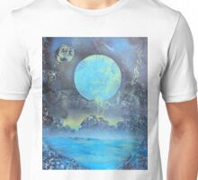 Spray Paint Art- Two Moons Unisex T-Shirt