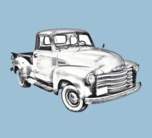 1947 Chevrolet Thriftmaster Pickup Illustration Baby Tee