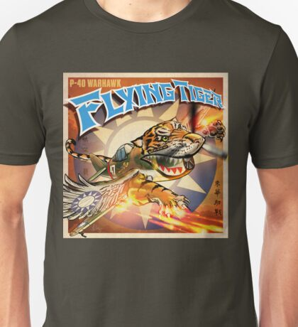 """WINGS Series """"FLYING TIGER"""" Unisex T-Shirt"""