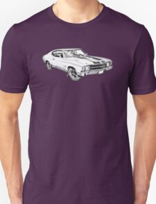 1971 chevrolet Chevelle SS Illustration Unisex T-Shirt