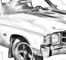 1971 chevrolet Chevelle SS Illustration Sticker