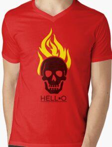 Hell•O Mens V-Neck T-Shirt