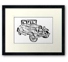 Antique Ford Molel A Illustration Framed Print