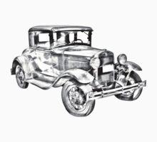 Antique Ford Molel A Illustration Kids Clothes