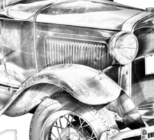Antique Ford Molel A Illustration Sticker