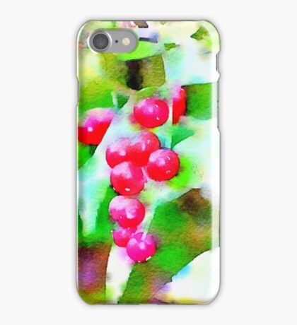 Red Wild Berries iPhone Case/Skin