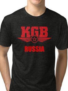 KGB Russia Soviet Tri-blend T-Shirt