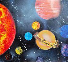 Spray Paint Art- Solar System by ArniesArt