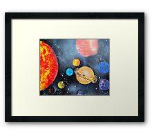 Spray Paint Art- Solar System Framed Print