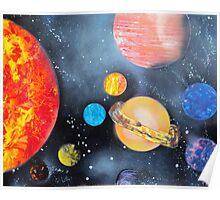 Spray Paint Art- Solar System Poster