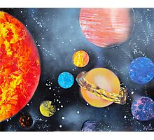 Spray Paint Art- Solar System Photographic Print