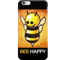 """BEE Happy"" POOTERBELLY iPhone Case/Skin"