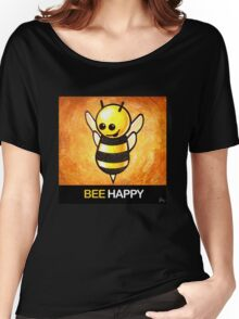 """""""BEE Happy"""" POOTERBELLY Women's Relaxed Fit T-Shirt"""
