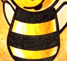 """""""BEE Happy"""" POOTERBELLY Sticker"""