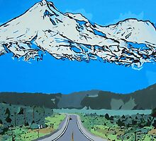 Abstract Painting Mt Everest by ArniesArt