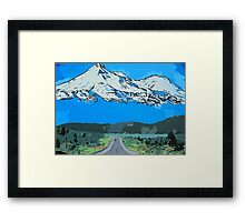 Abstract Painting Mt Everest Framed Print