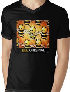 """BEE Original"" POOTERBELLY Mens V-Neck T-Shirt"