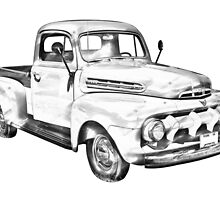 1951 ford F-1 Pickup Truck Illustration by KWJphotoart