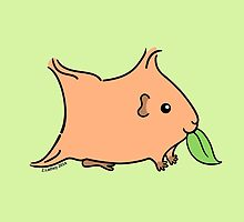 Leaf Munching Guinea-pig ... auburn by zoel