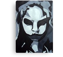 Sinister Zombie- Zombie Girl Painting  Canvas Print
