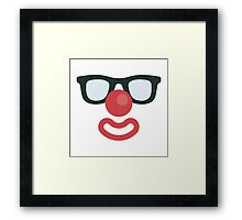 FUNNY FACE ICON- Clown With Glasses Framed Print
